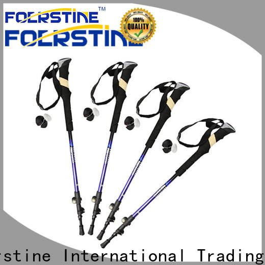 Foerstine nordic best trekking poles for trail running in different shape for outdoor