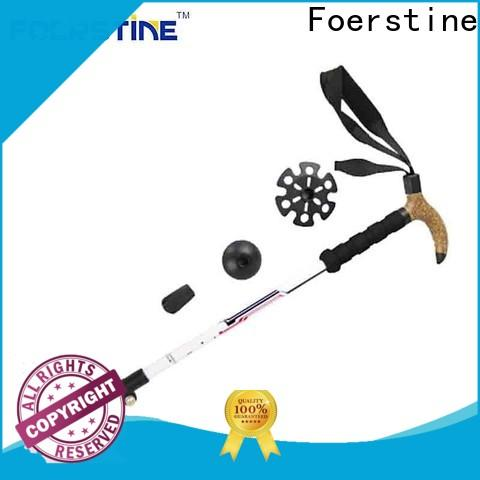 Foerstine Wholesale retractable trekking pole in different shape for traveling
