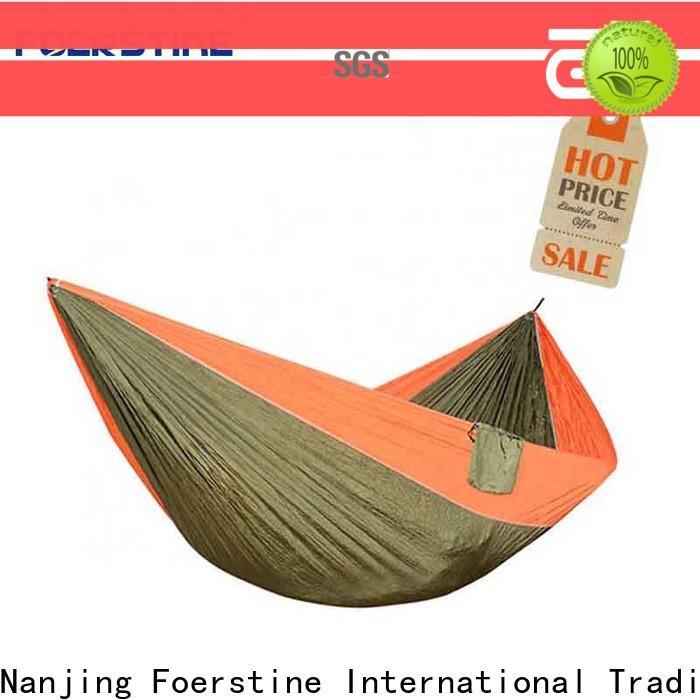 Foerstine portable single hammock swing vendor for resting