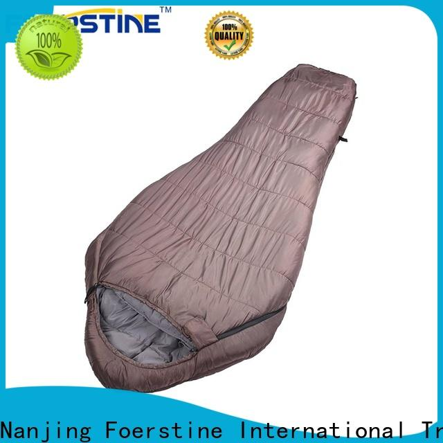 Foerstine soft cheap waterproof sleeping bags series for traveling