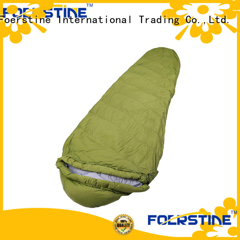 Foerstine sleeping compact sleeping bag marketing for backpacking