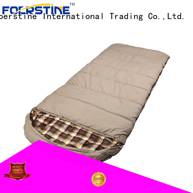 Foerstine camping lightweight sleeping bag bulk production for hiking