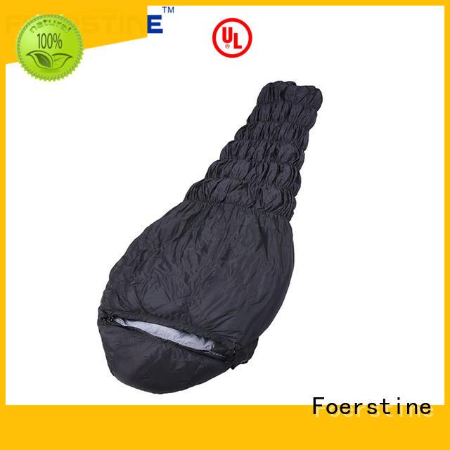 Foerstine portable lightweight sleeping bag marketing for hiking