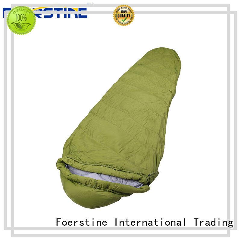 Foerstine soft mummy sleeping bag bulk production for backpacking