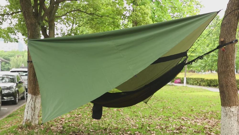 Use Rain fly & hammock outdoor