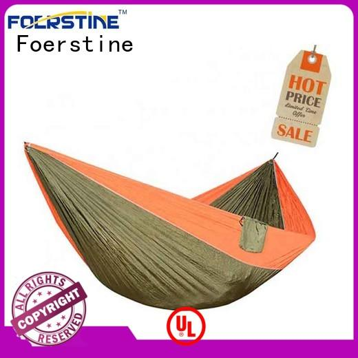 Foerstine portable hammock with mosquito net overseas market for outdoor leisure