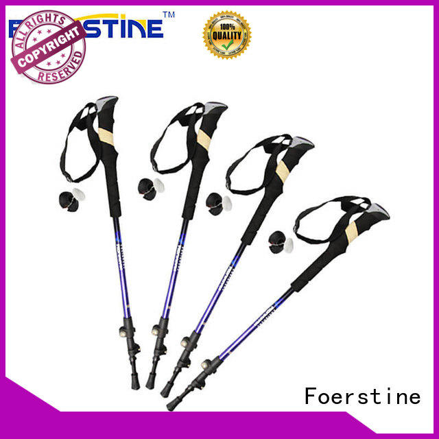 Foerstine mountain best carbon fiber trekking pole supplier for hiking