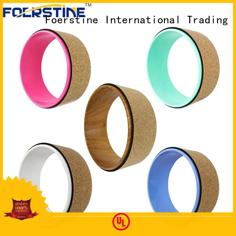 Foerstine colorful cork yoga wheel accessories for yoga