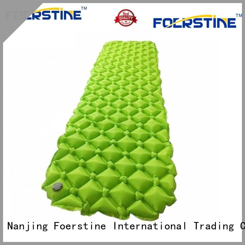 Foerstine inflatable lightweight self inflating sleeping pad for traveling