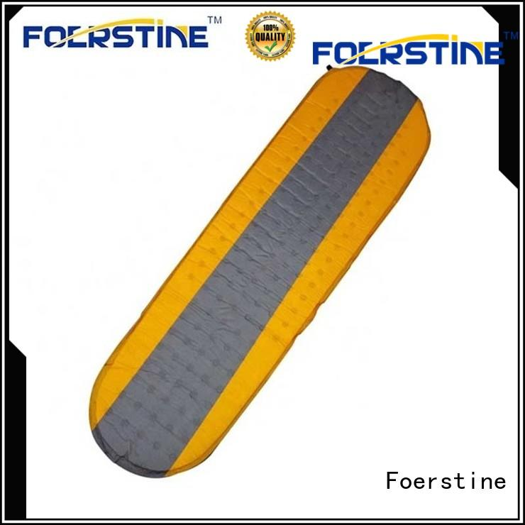 Foerstine portable insulated sleeping mat for hiking