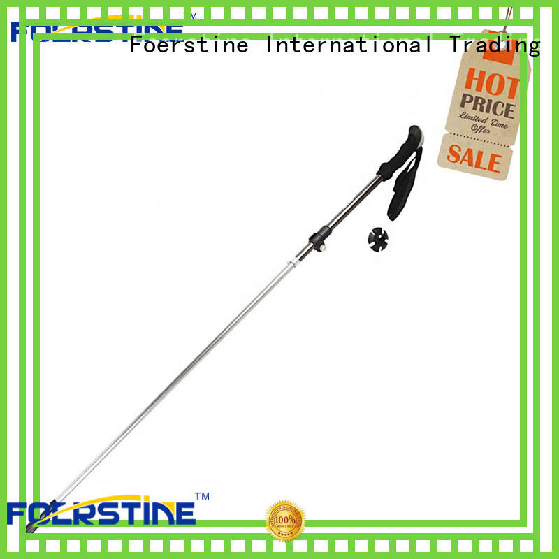 Foerstine fashion walking sticks for hiking in different shape for hiking