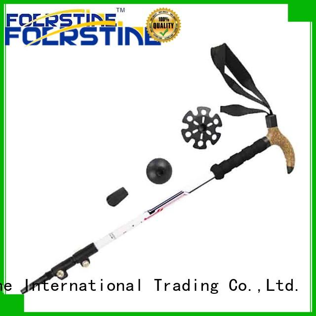 widely used mountain walking stick poles in different shape for hiking