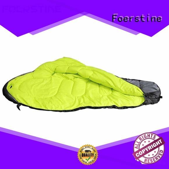Foerstine warm best sleeping bags marketing for backpacking