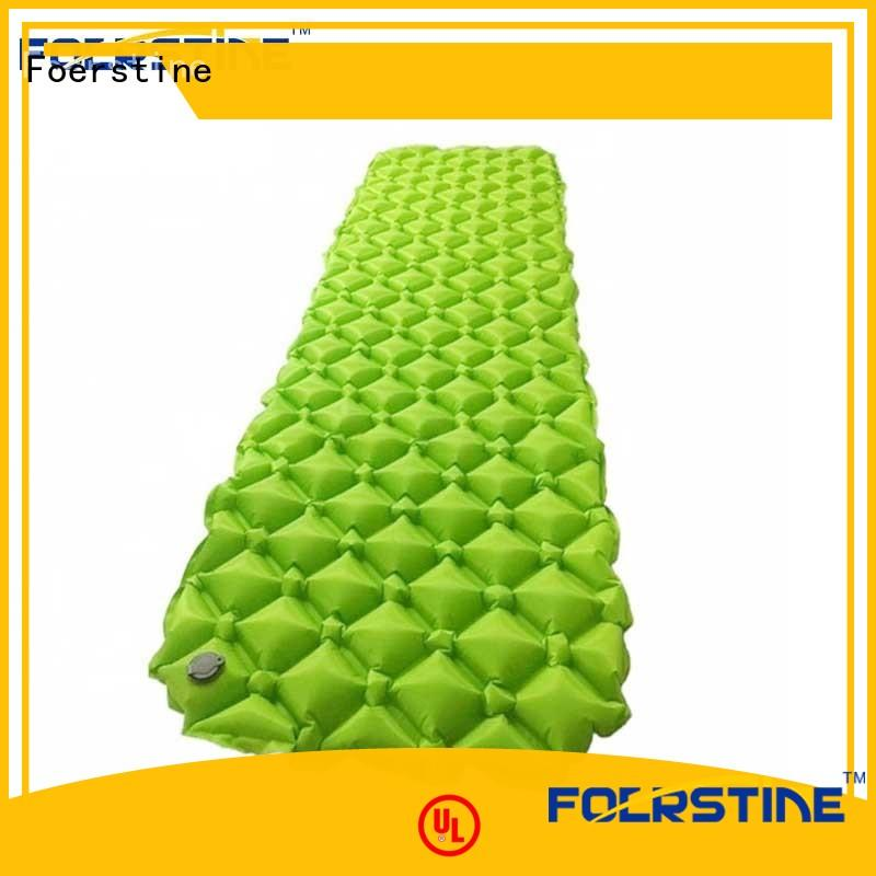 Foerstine portable self inflating sleeping pad marketing for backpacking