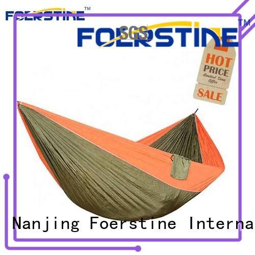 Foerstine hiking tree hammock bulk production for resting