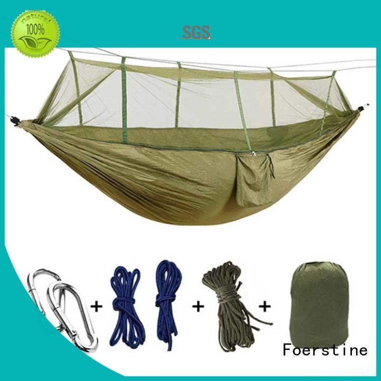 Foerstine hiking travel hammock marketing for sleeping