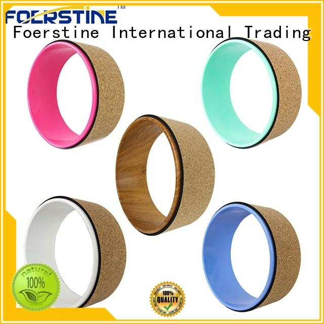 good to use cork yoga wheel yw02 overseas market for yoga