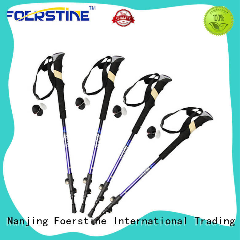 easy to hold nordic walking sticks pole bulk production for hiking