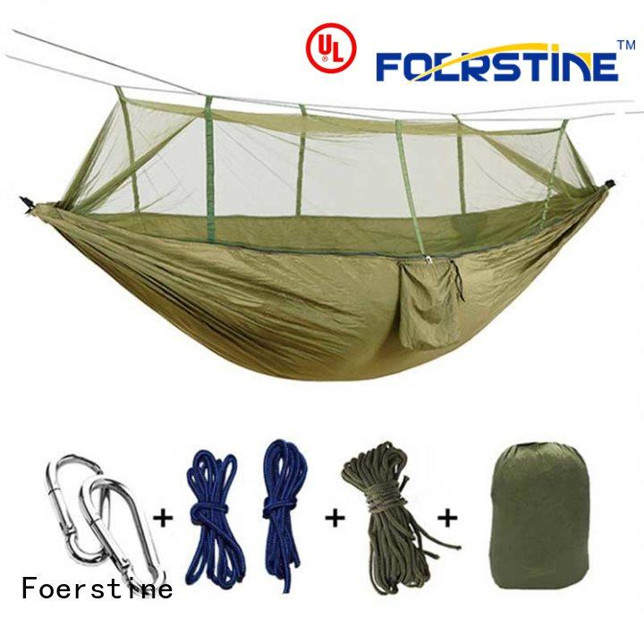 Foerstine portable hammock with stand and shade cover factory for sleeping