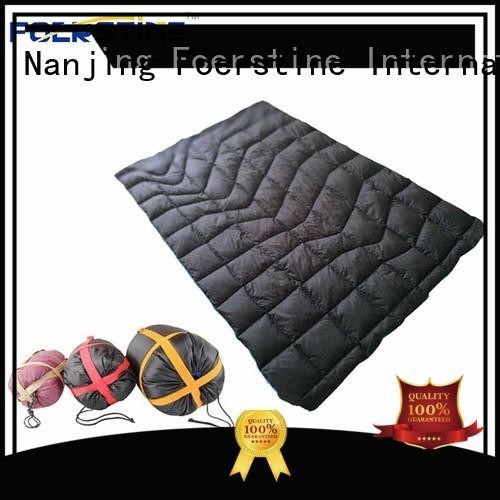 Foerstine waterproof inflatable sleeping pad marketing for hiking