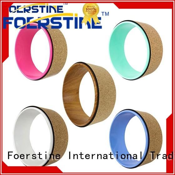 Foerstine cork yoga wheel accessories for yoga
