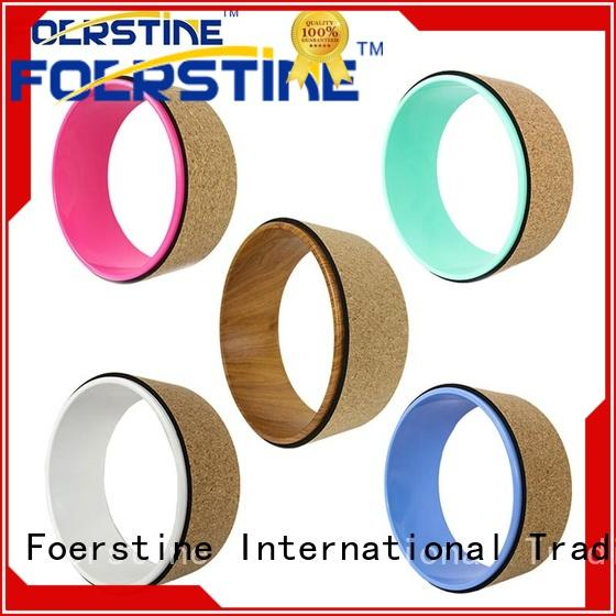 Foerstine cork yoga wheel accessories for yoga