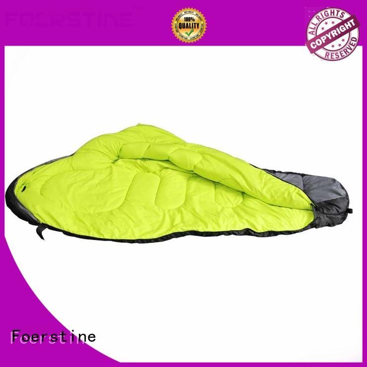 Foerstine portable lightweight sleeping bag marketing for backpacking